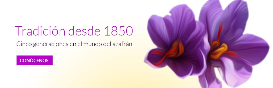 Tradición desde 1850, cinco generaciones en el mundo del azafrán