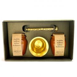 Pack Saffron with bronze mortar